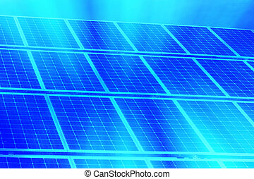 Alternative energy - Background Solar panel Digital...