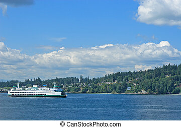 Puget Sound Ferry - Washington State Ferry on Puget Sound...