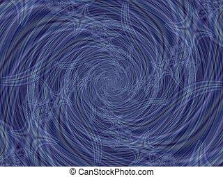 Blue spiral fractal