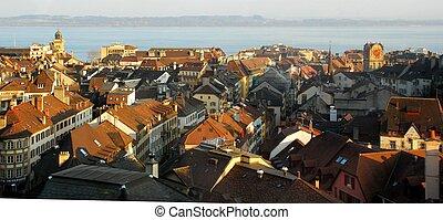 Rooftops of Neuchâtel - Switzerland