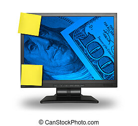 LCD with money background
