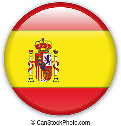Button Spain - Button with map from Spain