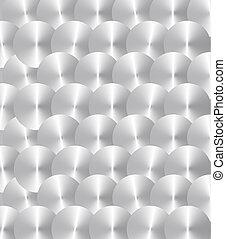Inox plate - Brushed Inox circles
