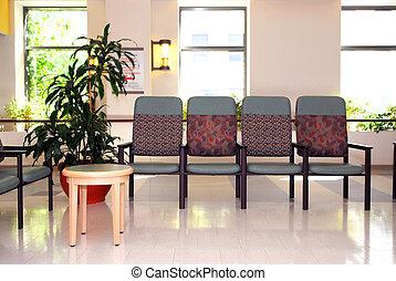 hospital, esperar, habitación
