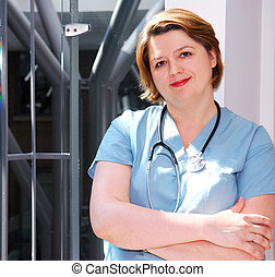 Nurse - Portrait of a medical doctor or nurse in a hospital