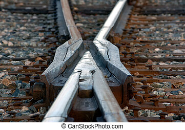 X Rail - A close-up picture of a rail road intersection
