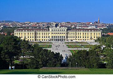 Schloss Schoenbrunn - View of Schloss Schoenbrunn in Vienna,...
