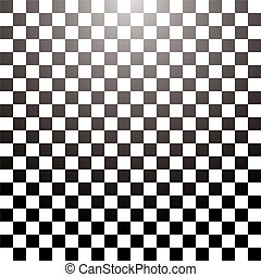 checkered grid tile - Abstract checkered tile with a radial...