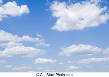 clouds in the sky - leaden clouds. grey clouds and blue sky