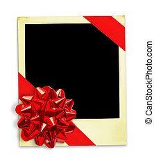 Life Events - Polaroid Frame Wrapped In A Gift Bow with...