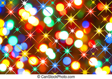 Holiday Lights - Magic Colorful Holiday Lights Blurry...