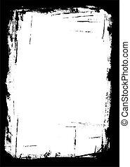 Border of Paint strokes - Border of paint strokes on an...