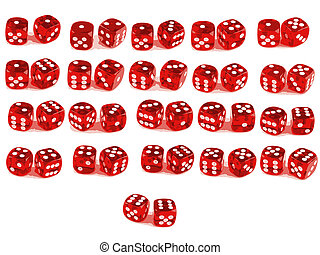 2 Dice -All combinations - Low Poly Count - 2 Dice close up...