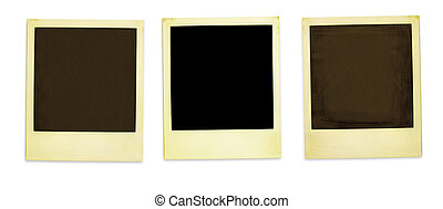 Retro Photo Frames - Three Old Polaroids Isolated On White...