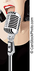 Jazz Singer (vector) - Jazz Singer (XXL jpeg made from...