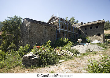 Tuscan House - A house under construction in Tuscany, Italy.