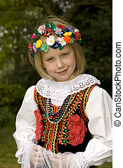 Cracow girl - Traditional Cracow costume