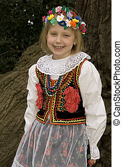 Cracow girl - Traditional costume from Cracow