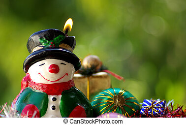 christmas snowman ornamen - Illuminated christmas snowman...