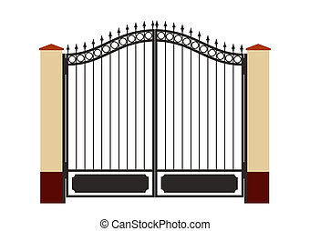 forged iron gate - Ornate smart forged iron gate-accurate...