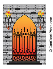 forged iron gothic window - Ornate smart forged iron gothic...