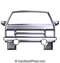 3D Silver Car