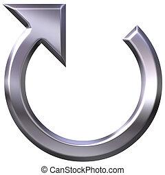 3D Silver Circular Arrow
