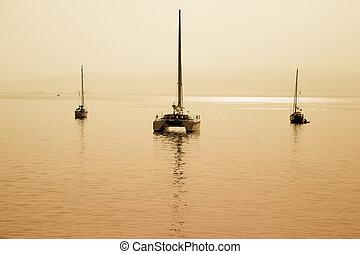 velejando, bote