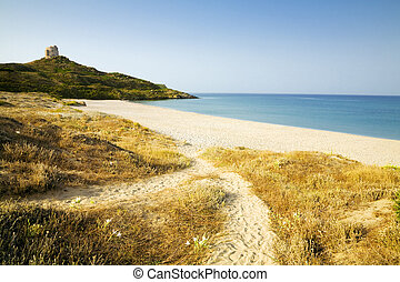 travel destination: view of a seacoast