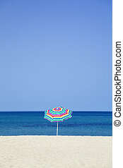 beach umbrella - Seasonal and Holidays: sun umbrella on the...