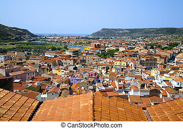 picturesque - a picturesque italian city seen from a high...