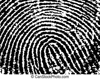 FingerPrint Crop 9 - Low Poly Count - Black and White Vector...