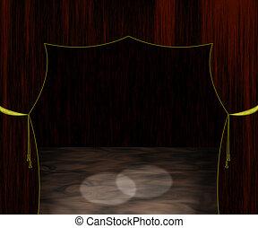 Empty Stage Illustration