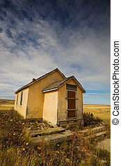 School house - Old abandoned school house on the prairie