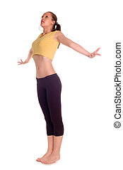Fitness girl - Gym fitness girl training her body with...