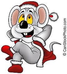 Christmas Mouse - Highly detailed and colored cartoons...