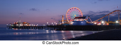 Santa Monica Pier Photos at Magic Hour