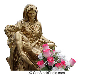Jesus and Virgin Mary - Statue Of Jesus And Virgin Mary