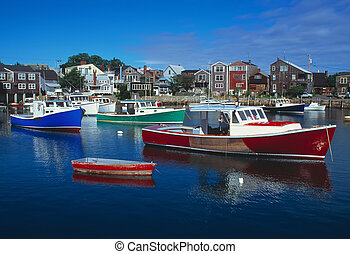 Rockport Massachusetts Harbour - Rockport Massachusetts...