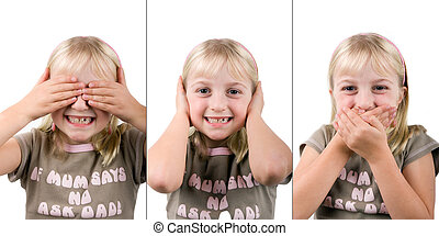 See No Evil, Hear No Evil, Speak No Evil - A young girl...