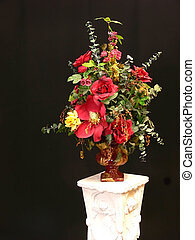 Silk flower - A nice silk flower arrangement on an white...