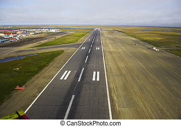 Airdrome - Aerial photos of landing strip of the airport