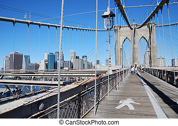 Brooklyn Bridge and NYC - Brooklyn Bridge with the New York...