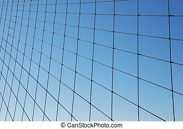 Wire Grid on Blue Gradien - Wire Grid on a Blue Gradient...