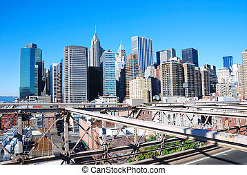 New York City Skyline - New York City skyline from the...