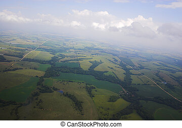 Aerial photo backgrounds - Aerial photos of farmlands for...