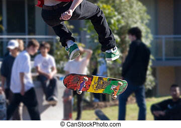 Skateboarding - Skateboarder in the air