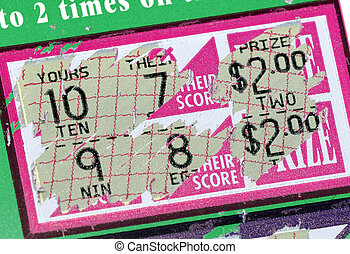 Scratch Ticket - Photo of a Scratched Lottery Ticket