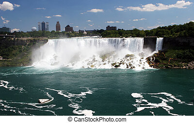 Niagara Falls - View of the Niagara Falls - travel and...