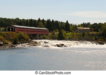 Covered Bridge - Landscape picture of a covered bridge over...